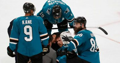 Two referees who made controversial Golden Knights-Sharks Game 7 penalty call won't officiate second round