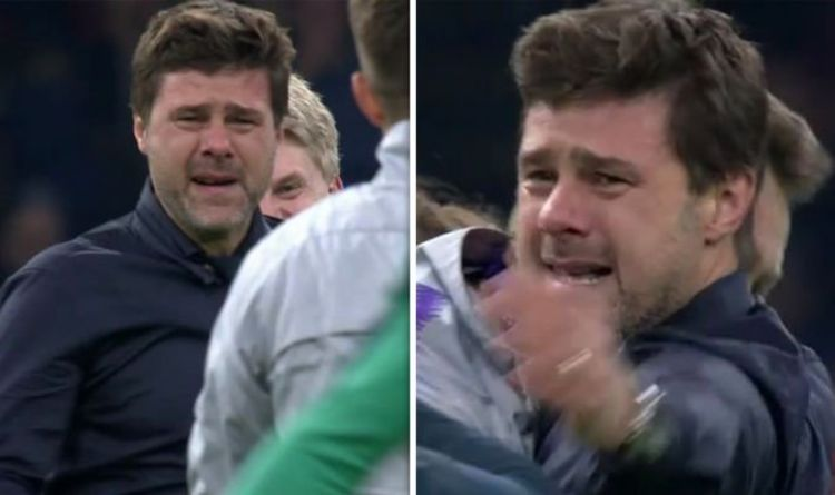 Mauricio Pochettino Crying As Tottenham Complete Incredible Comeback Against Ajax Sports Love Me