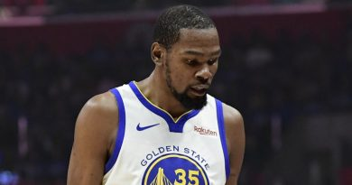 Durant will be missing for Warriors again