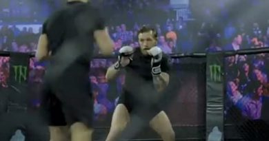 McGregor shares footage of him back in the octagon ahead of UFC return