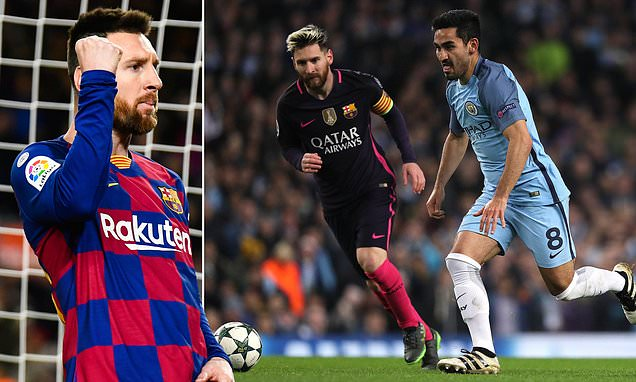 Image result for Lionel Messi, Ronaldo and İlkay Gündoğan
