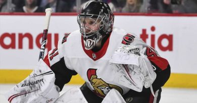 Craig Anderson injury update: Ottawa Senators goalie will not return vs. Philadelphia Flyers