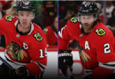 Chicago Blackhawks teammates Jonathan Toews, Duncan Keith scrap during morning skate