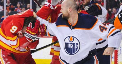Oilers' Zack Kassian focused more on winning than rivalry with Flames' Matthew Tkachuk
