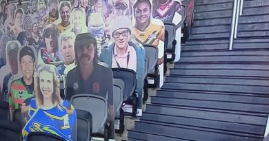 Dominic Cummings cut-out spotted among cardboard fans at NRL showdown