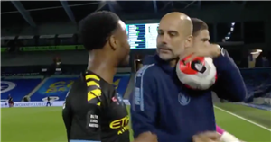 Guardiola steals Sterling's matchball and jokes he didn't score a hat-trick