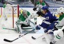 Khudobin's play in goal lifts Stars to Game 1 win