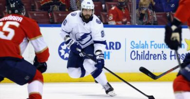 Stanley Cup playoffs 2021: Nikita Kucherov scores twice for Lightning in controversial season debut