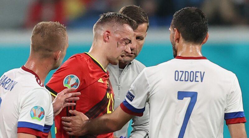 Belgium star Timothy Castagne suffers gruesome head injury in Euro 2020 opener