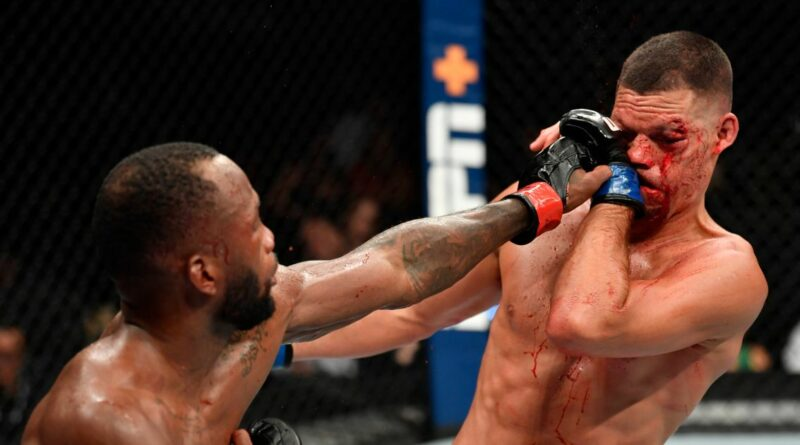 Leon Edwards survives late scare to beat bloodied Nate ...