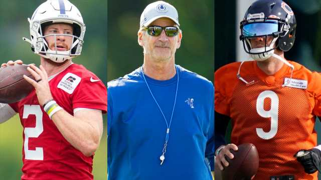 Frank Reich on Colts' QB situation, potential trade options: This is Carson Wentz's team