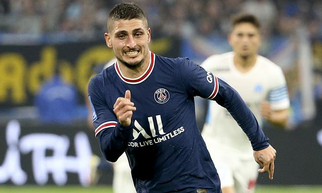 PSG midfielder Marco Verratti is out for the next FOUR weeks