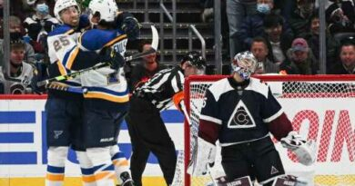 Shorthanded Avalanche rallies late but loses to Blues – The Denver Post