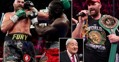 Tyson Fury's next fight will take place in the UK says Bob Arum